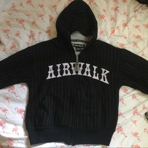 Airwalk Striped Hooded Sweater